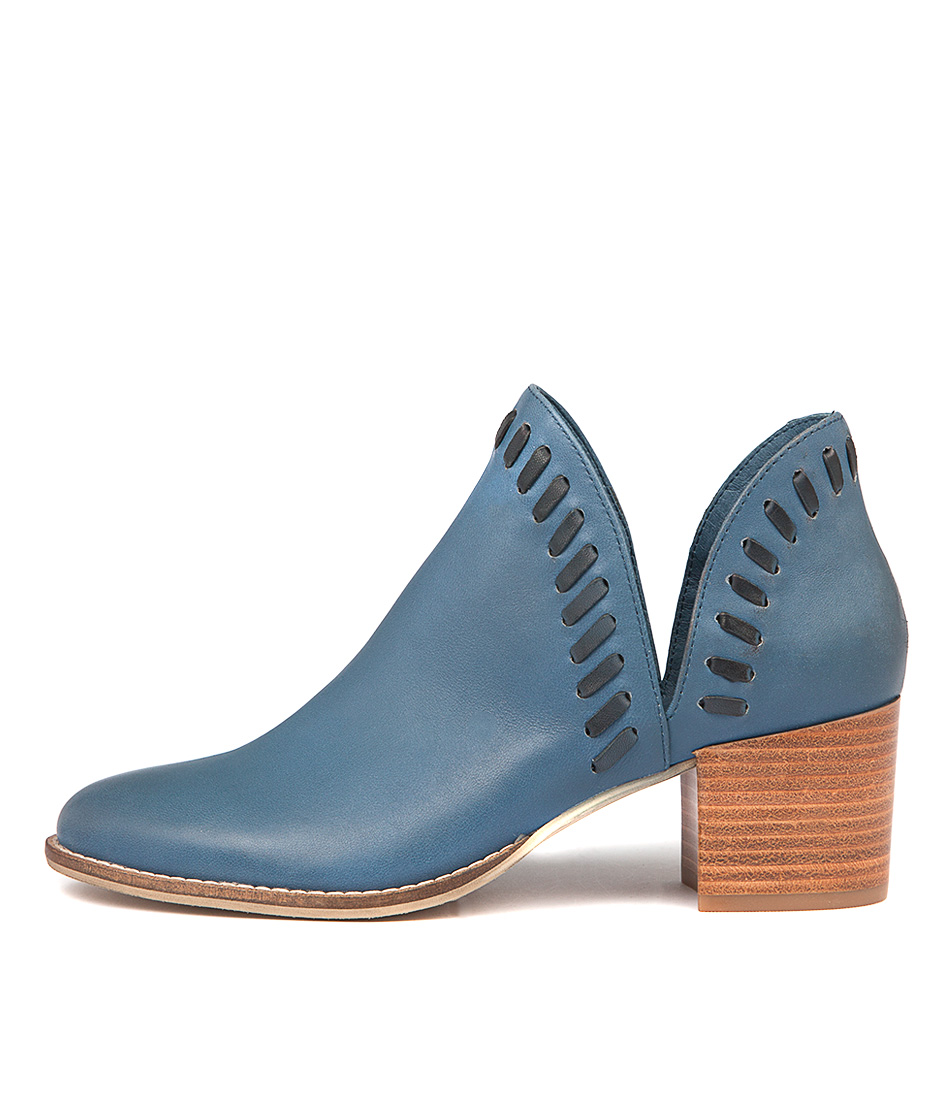Django & Juliette Marisols Deep Blue Navy Ankle Boots