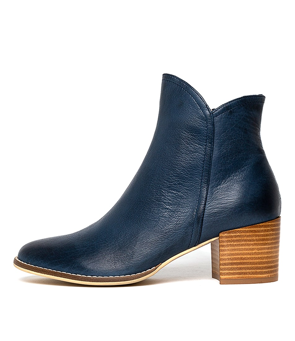 Buy Django & Juliette Mockas Navy Ankle Boots online with free shipping