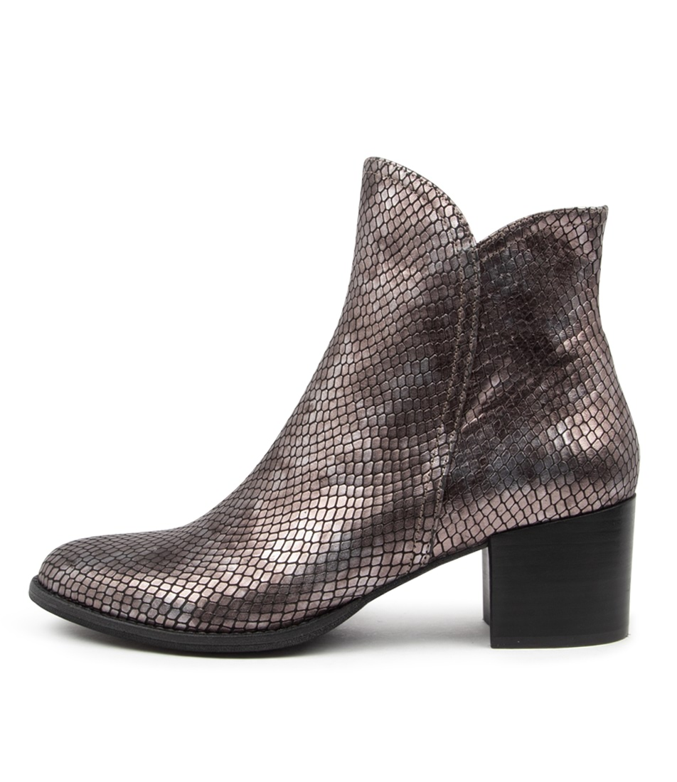 Buy Django & Juliette Mockas Pewter Ankle Boots online with free shipping