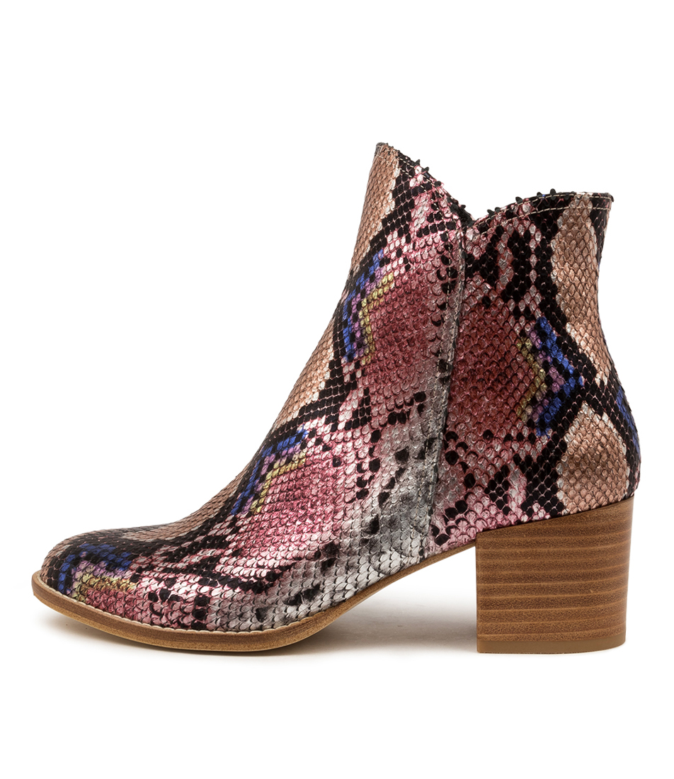 Buy Django & Juliette Mockas Pink Ankle Boots online with free shipping