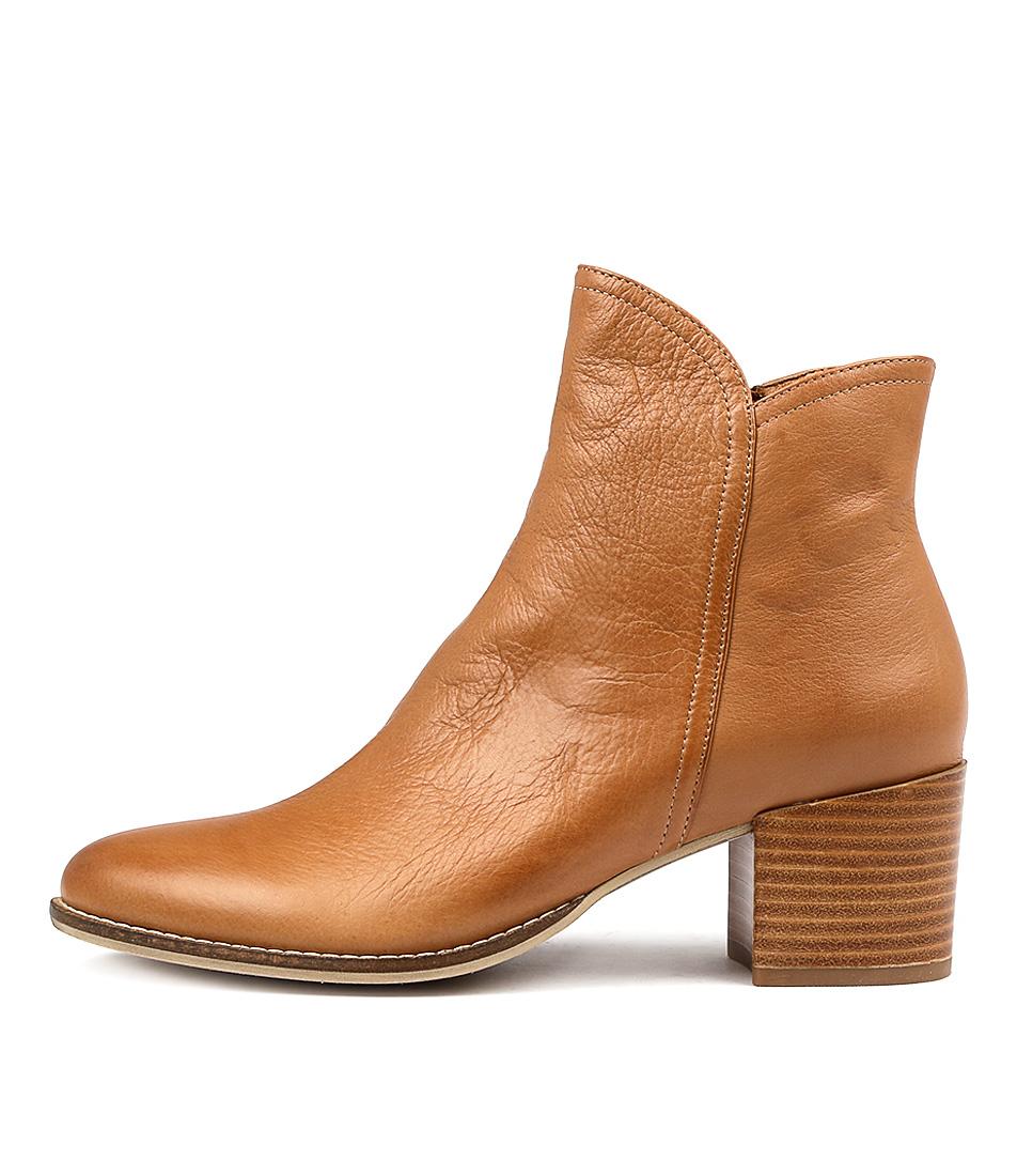 Buy Django & Juliette Mockas Dk Tan Ankle Boots online with free shipping