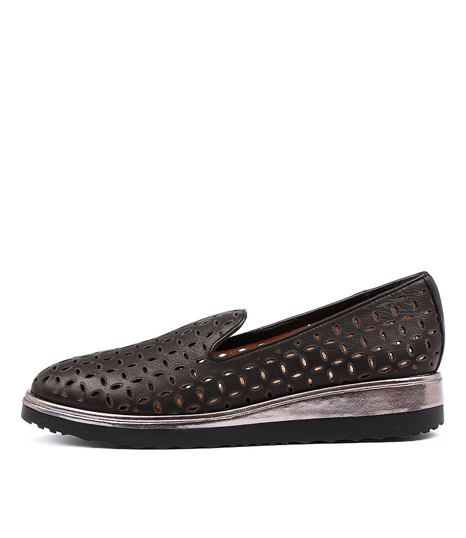 Django & Juliette Nemus Black Pewter Flat Shoes
