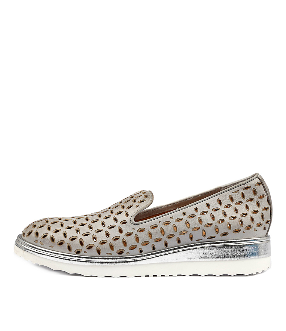 Django & Juliette Nemus Misty Silver Flat Shoes