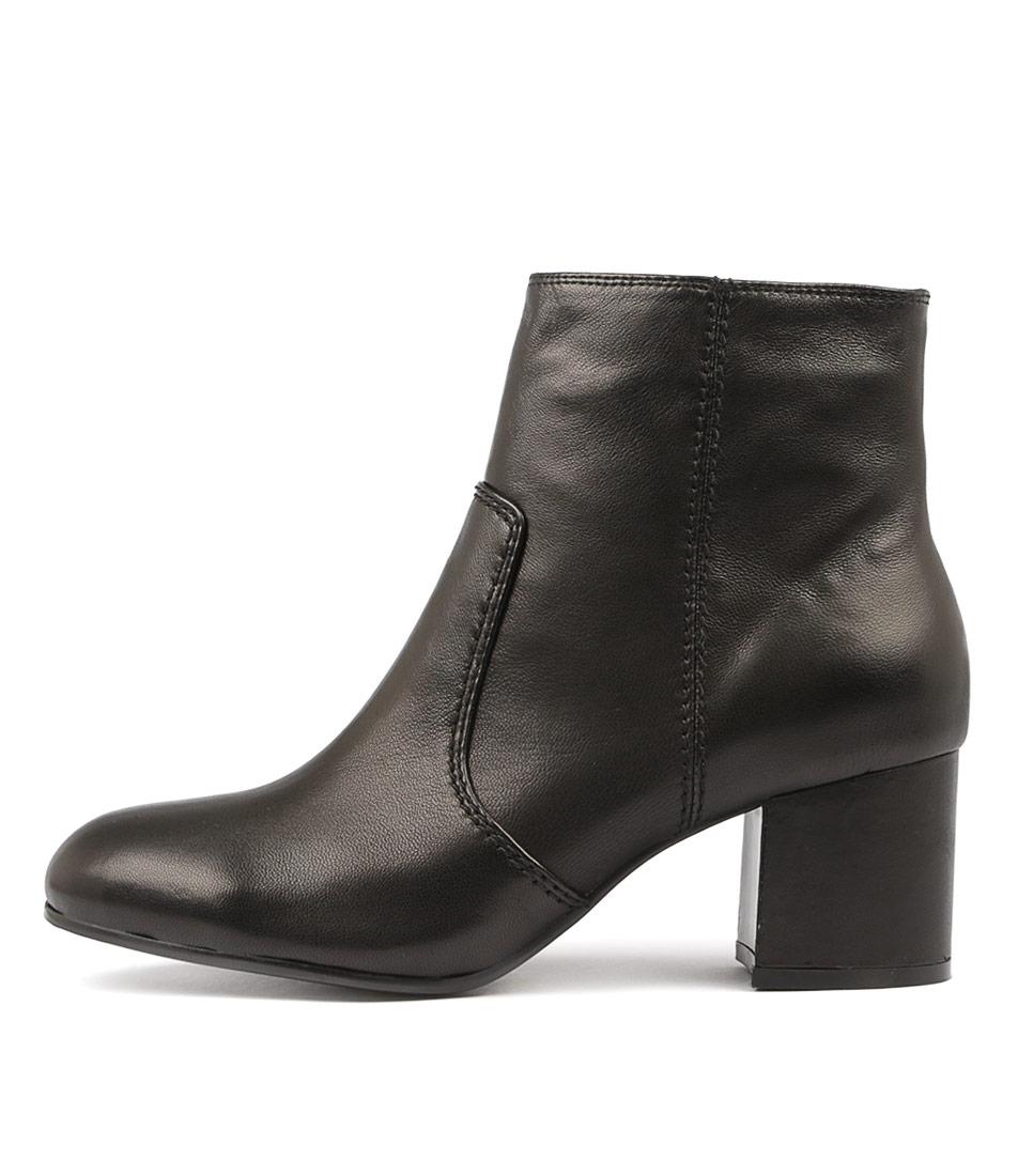 Django & Juliette Nimba Black Ankle Boots