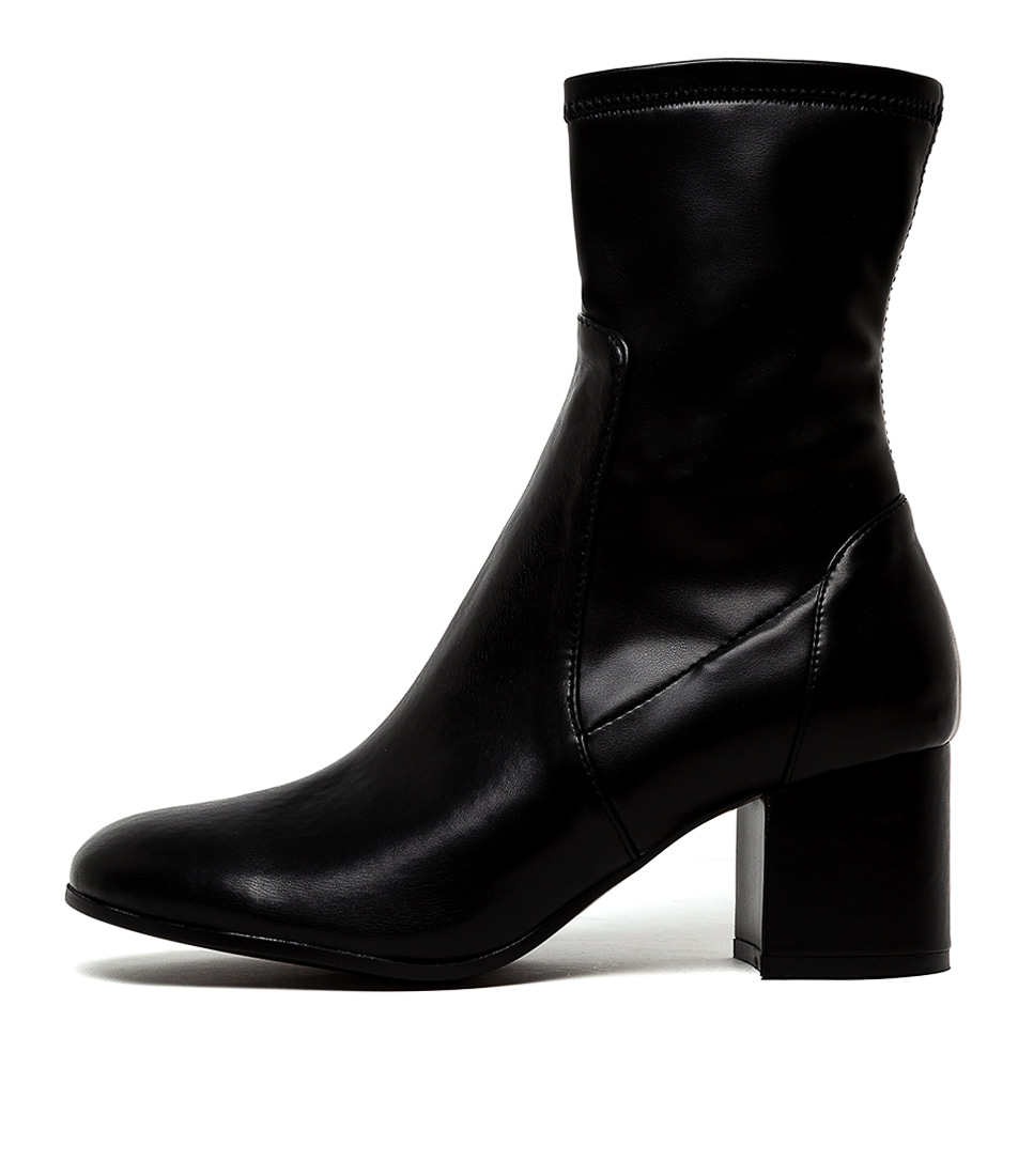 Buy Django & Juliette Nylon Black Dress Calf Boots online with free shipping