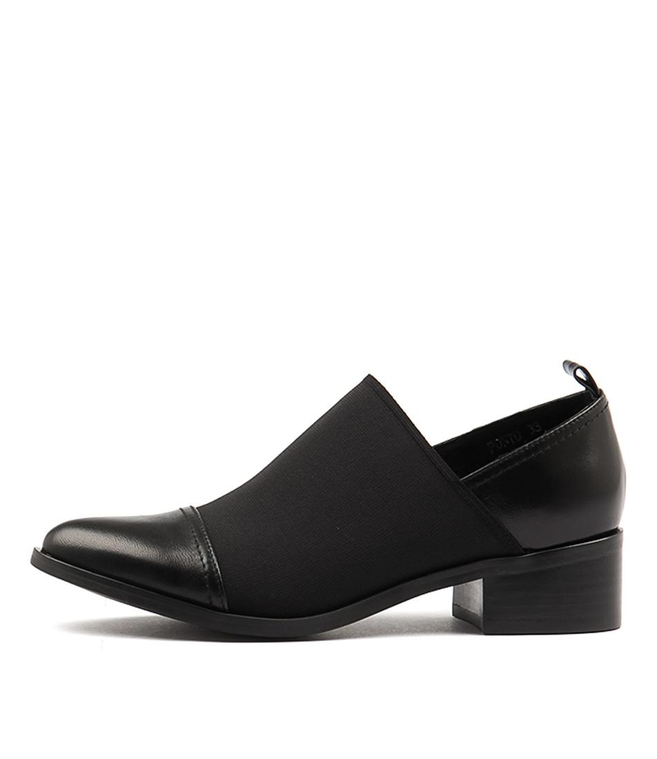 buy Django & Juliette Ponto Black Flat Shoes shop Django & Juliette Flats online