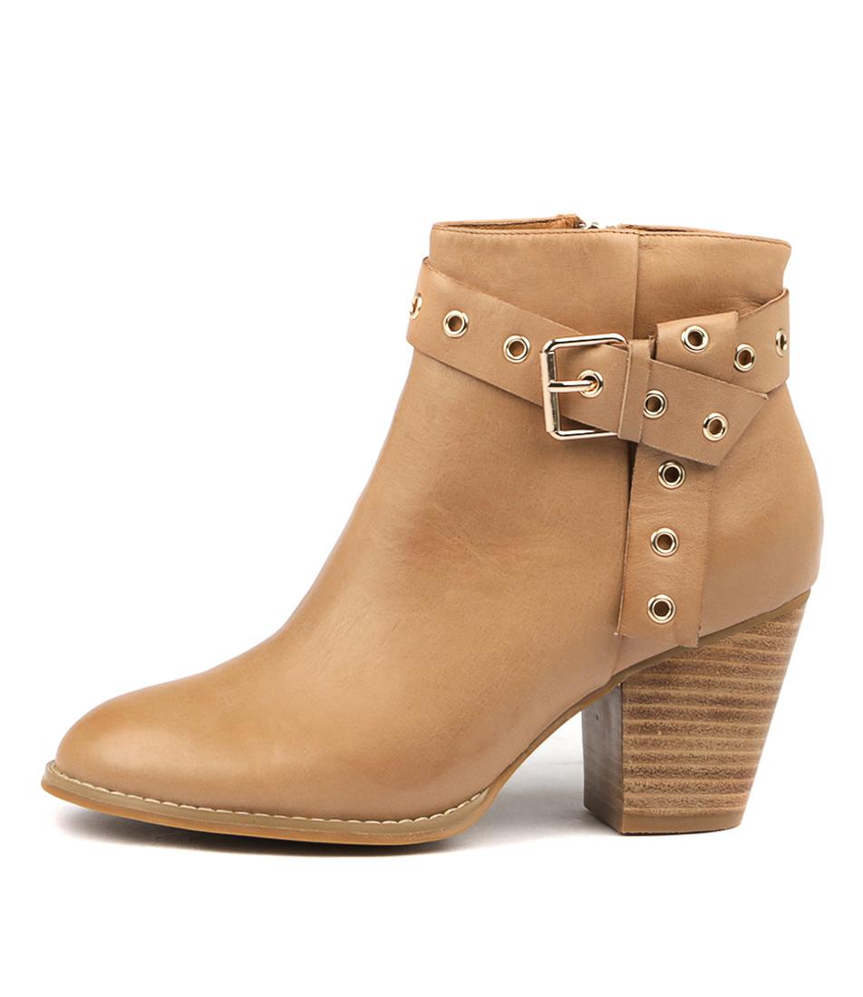 Django & Juliette Rozala Tan Ankle Boots