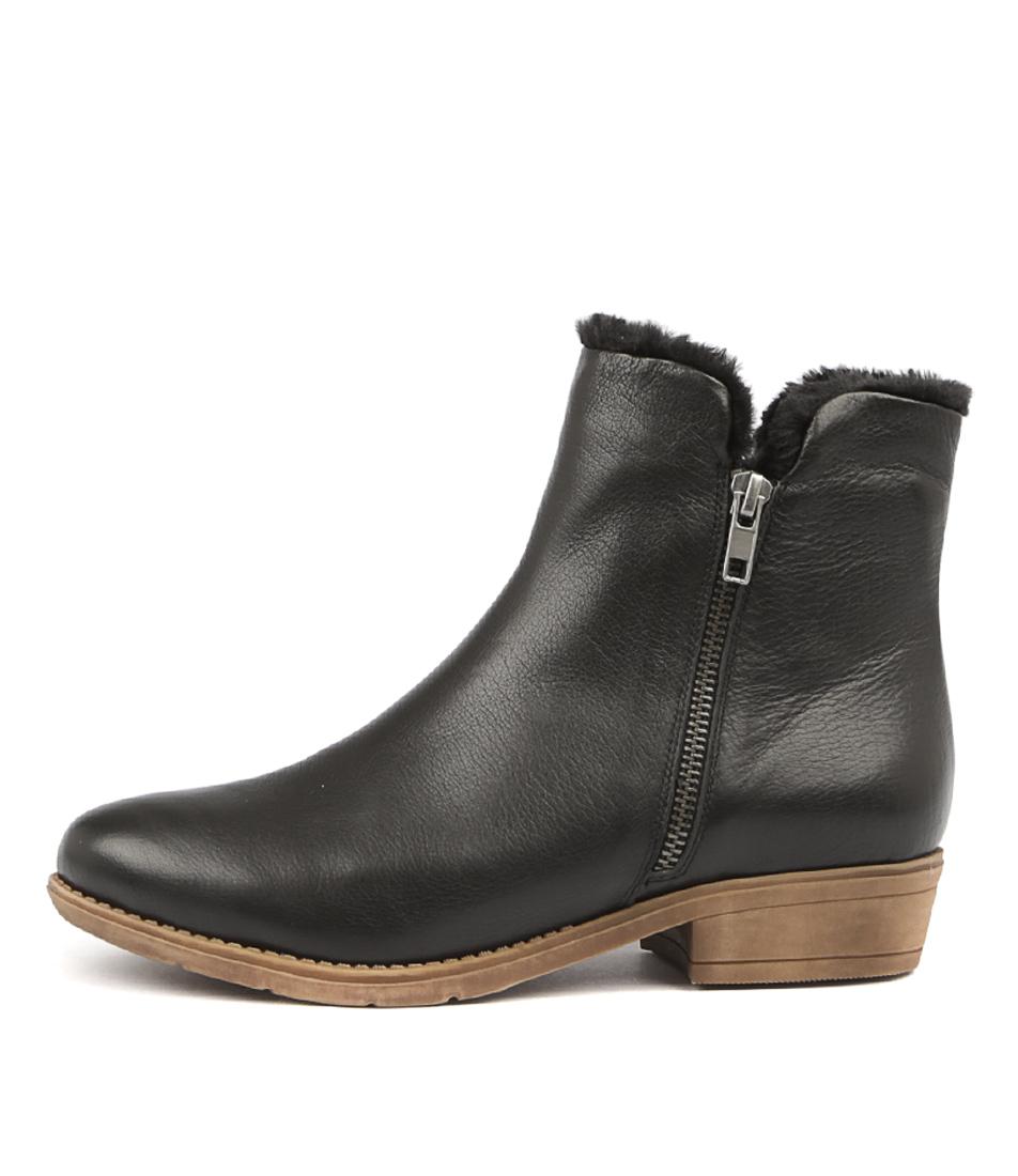 Django & Juliette Rush Black Ankle Boots