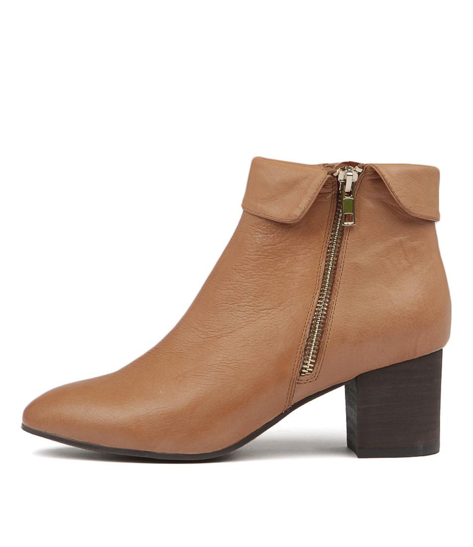 Photo of Django & Juliette Ryleigh Dk Tan Ankle Boots womens shoes