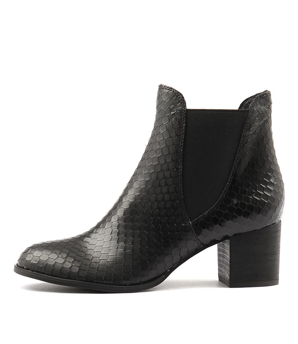 Django & Juliette Sadoring Black Ankle Boots