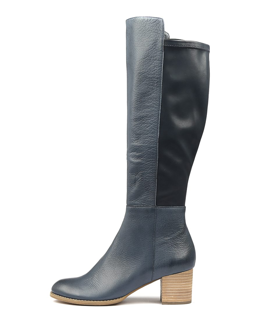 Buy Django & Juliette Setley Navy Long Boots online with free shipping