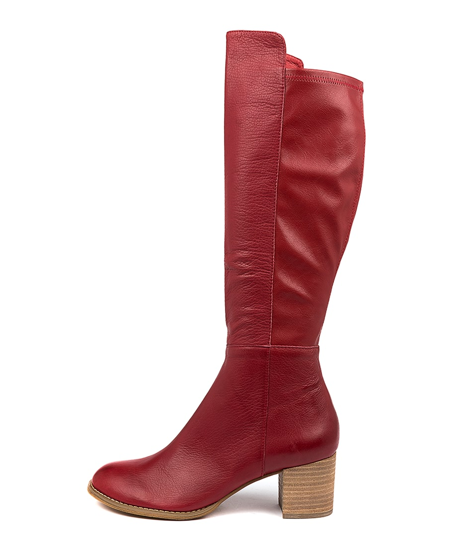 Buy Django & Juliette Setley Red Long Boots online with free shipping