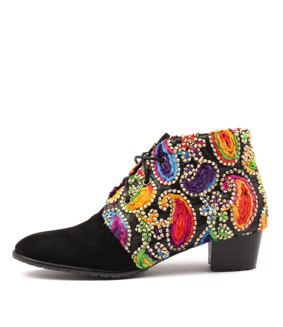 Django & Juliette Tankerm Black Boh Ankle Boots