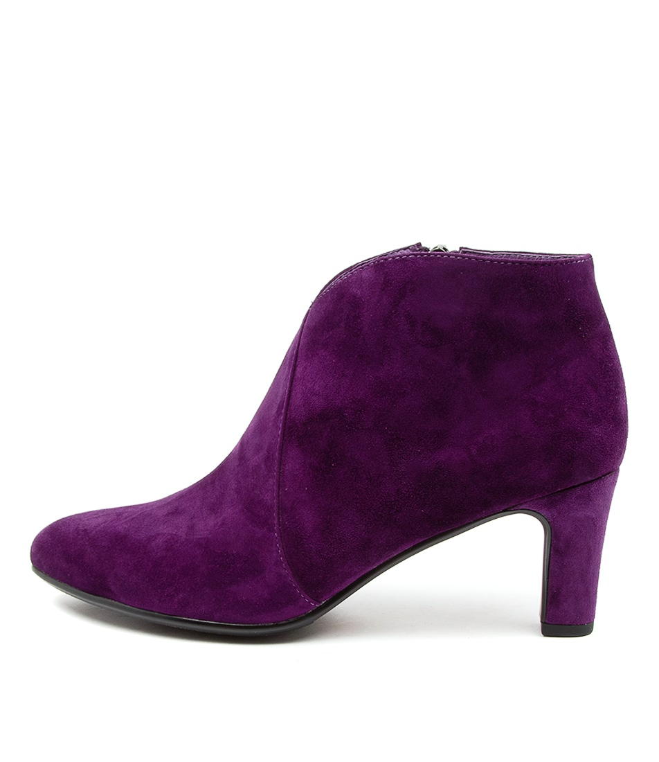 Buy Django & Juliette Templess Purple Dress Ankle Boots online with free shipping