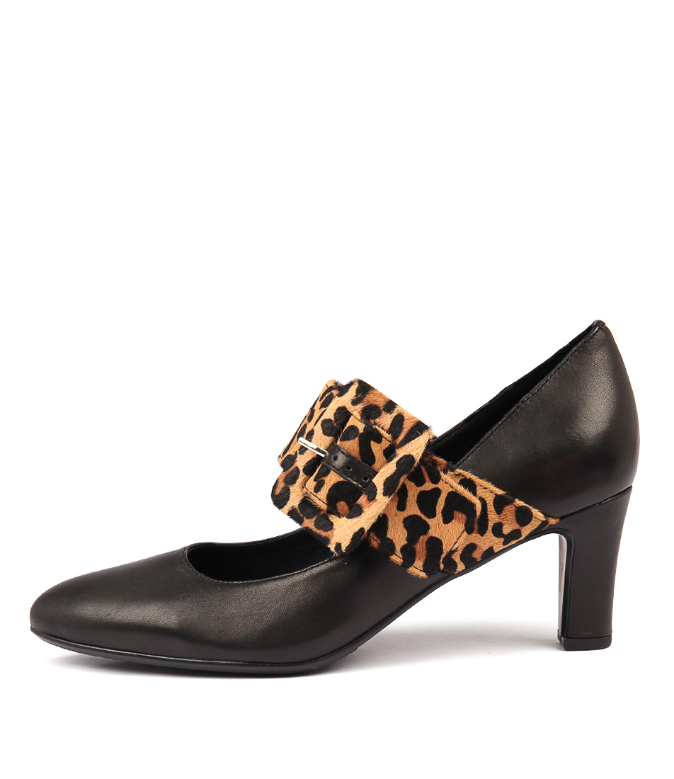 Photo of Django & Juliette Tracca Black Ocelot Dress High Heels, shop Django & Juliette shoes online