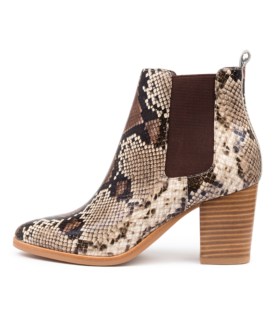 Buy Django & Juliette Tucson Choc Multi Ankle Boots online with free shipping