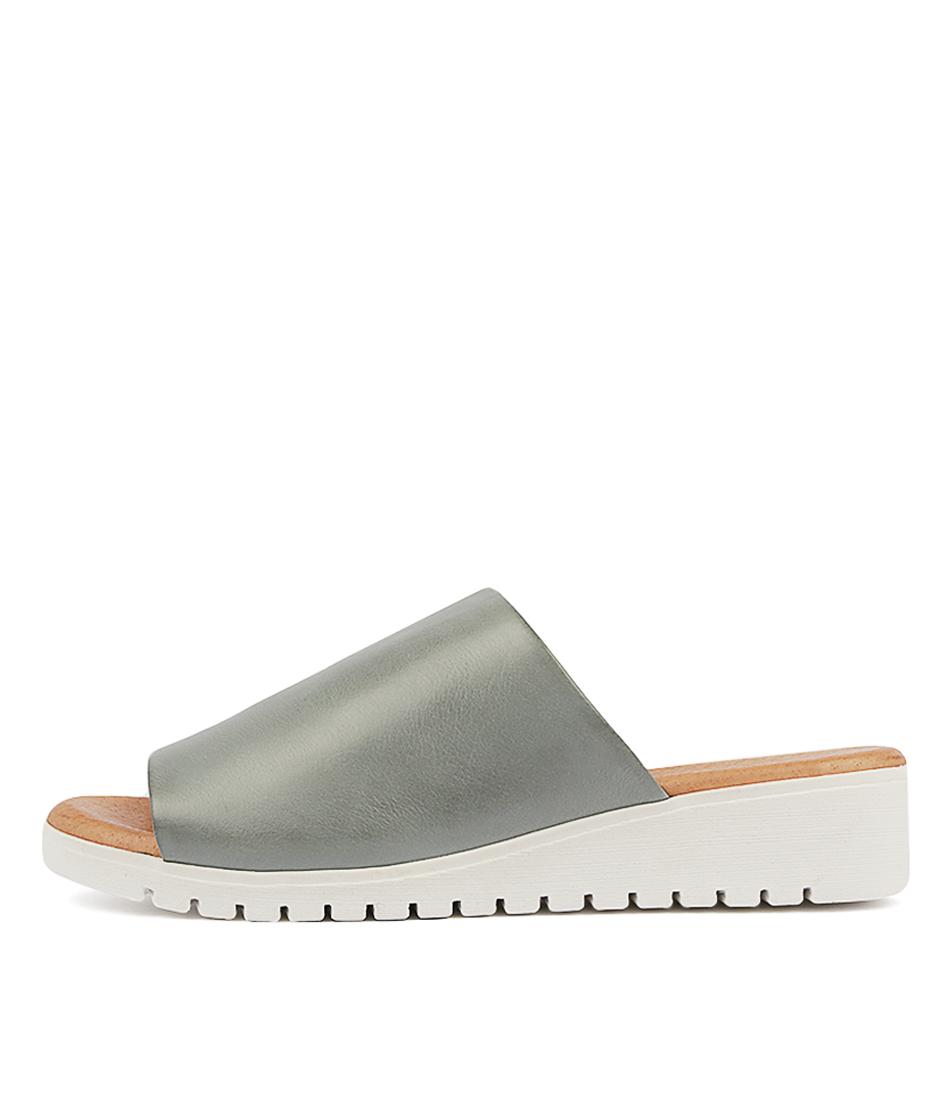 Buy Django & Juliette Merries Steel White Sol Flat Sandals online with free shipping