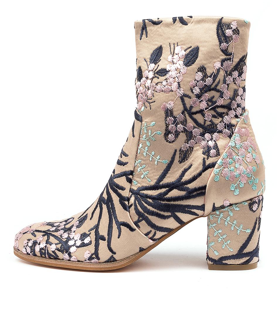 Buy Django & Juliette Danae Latte & Navy Blos Calf Boots online with free shipping