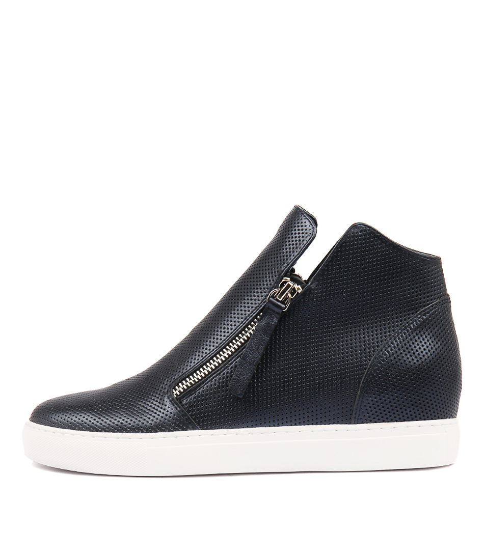 Buy Django & Juliette Gisele Navy Metallic Sneakers online with free shipping