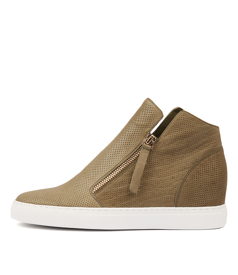 Buy Django & Juliette Gisele Khaki Sneakers online with free shipping