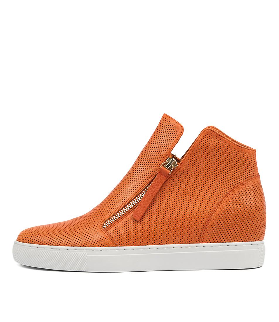 Buy Django & Juliette Gisele Bright Orange Sneakers online with free shipping