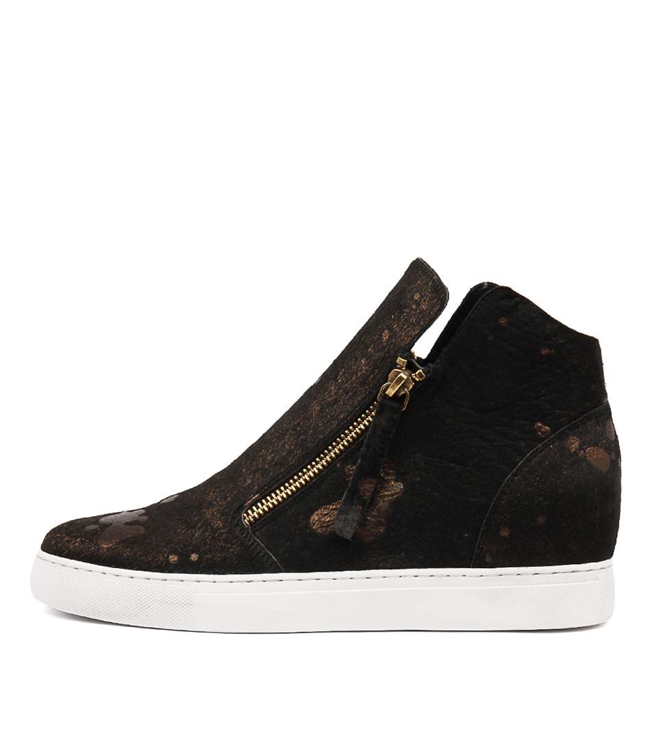 Django & Juliette Grayce Black & Bronze Sneakers