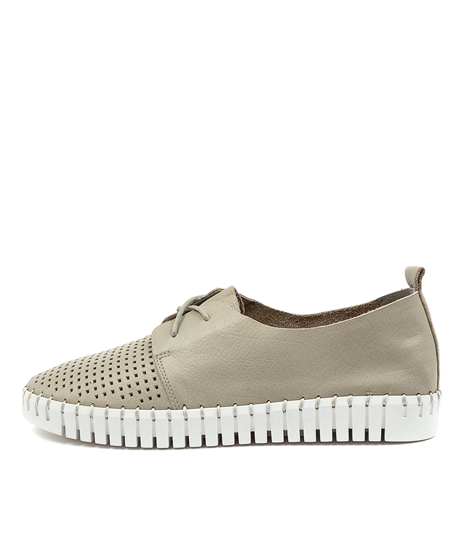 Buy Django & Juliette Huston Lt Grey White Sole Sneakers online with free shipping