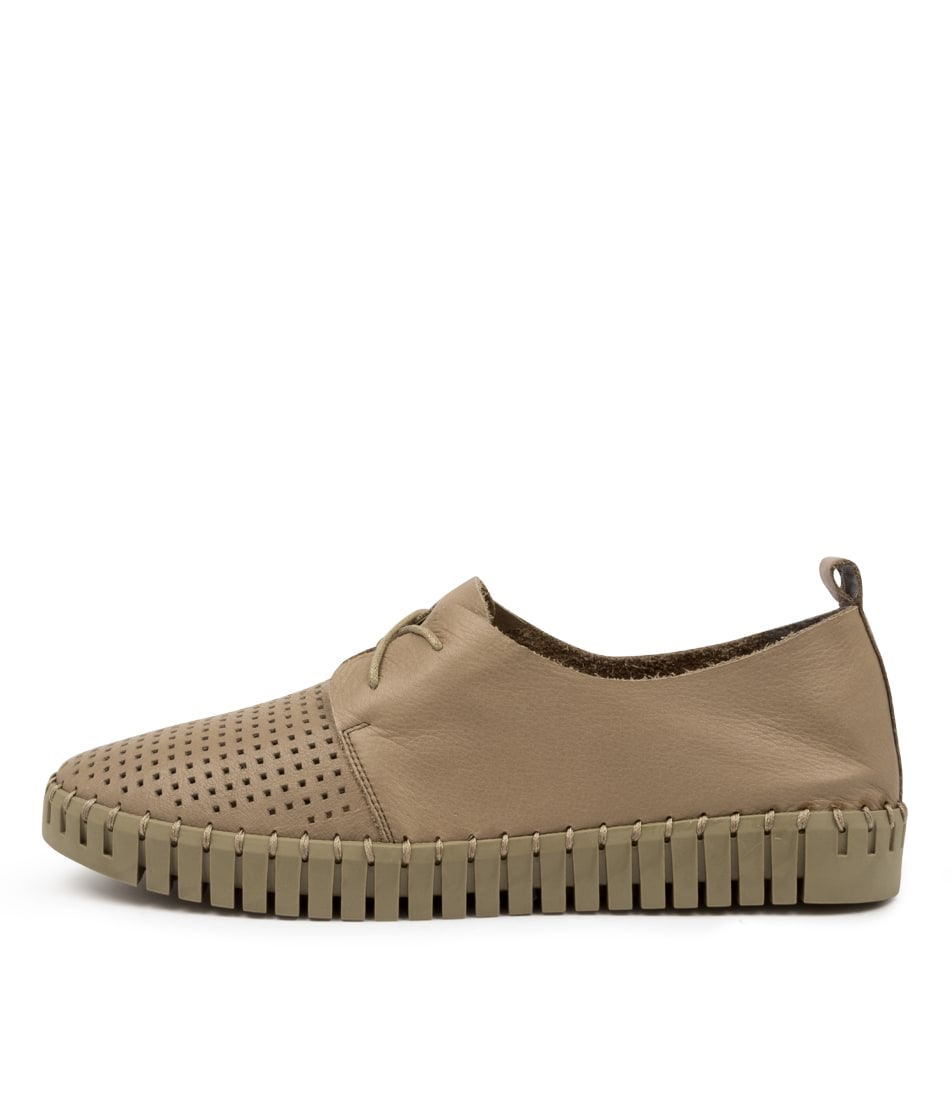 Buy Django & Juliette Huston Khaki Khaki Sole Sneakers online with free shipping