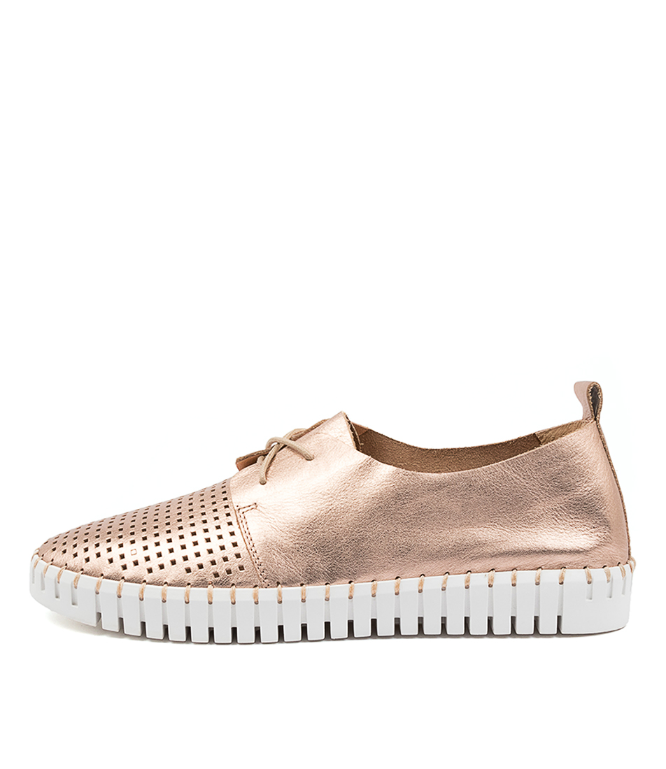 Buy Django & Juliette Huston Rose Gold Nude Sneakers online with free shipping