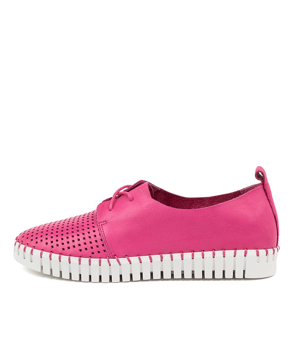 Buy Django & Juliette Huston Fuchsia White Sole Sneakers online with free shipping