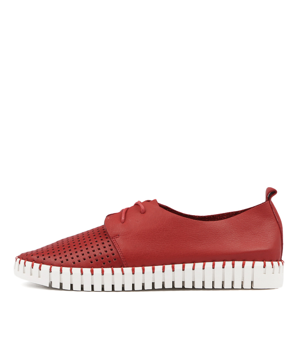 Django & Juliette Huston Red Flat Shoes