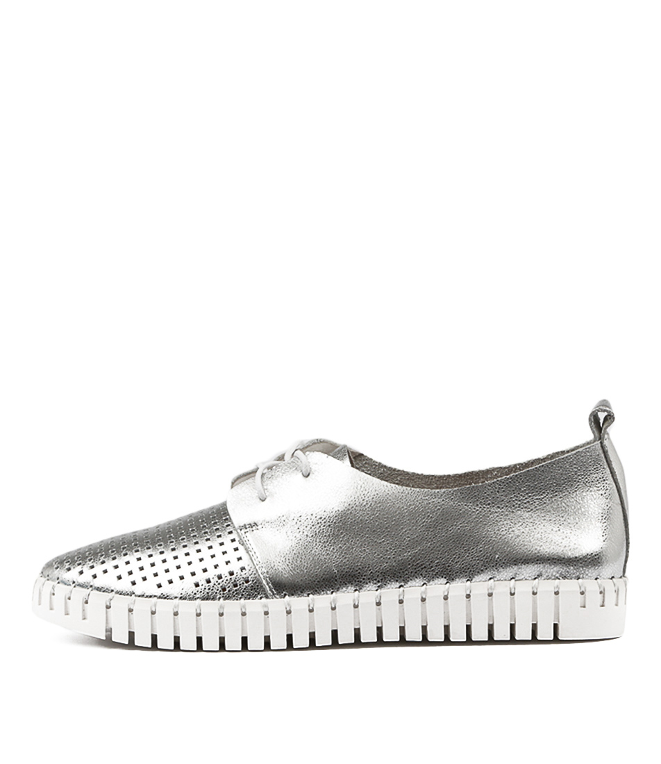 Django & Juliette Huston Silver Flat Shoes