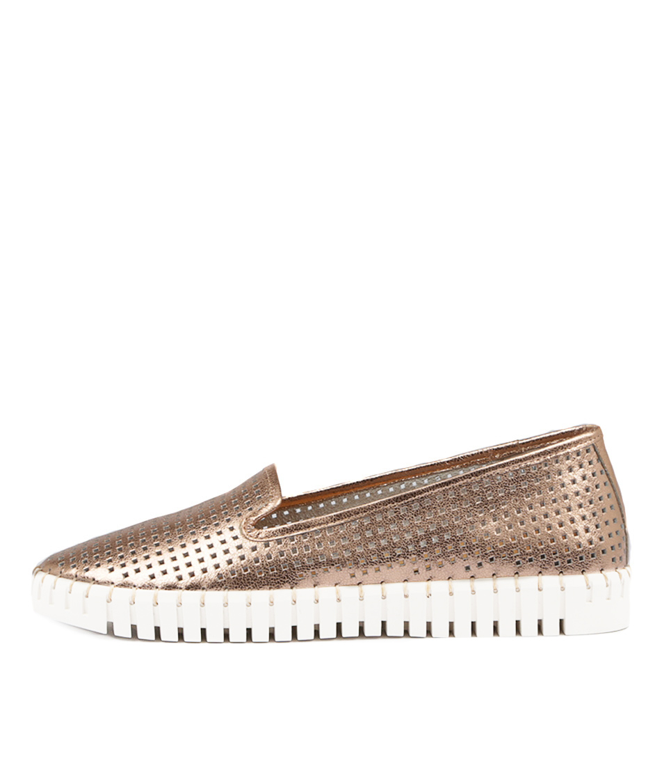 Photo of Django & Juliette Hollie Rose Gold Flats womens shoes