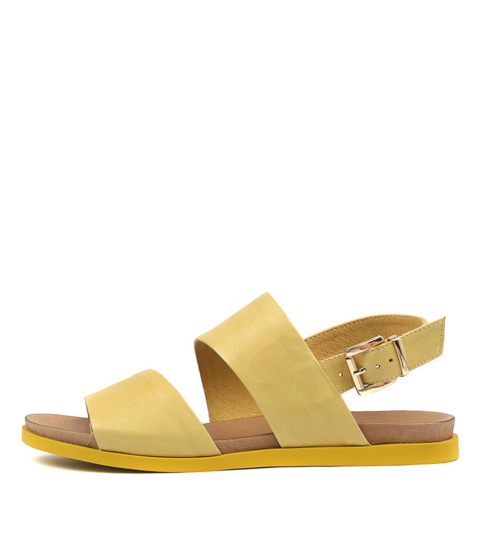 Django & Juliette Carina Yellow Sandals