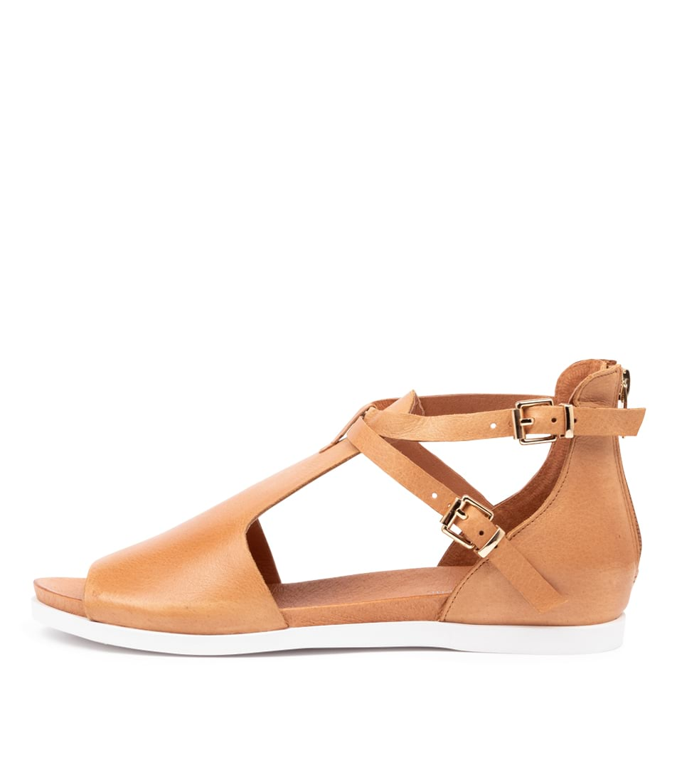 Buy Django & Juliette Chessie Dk Tan Flat Sandals online with free shipping