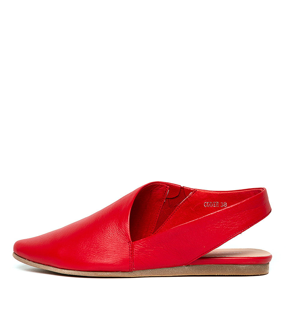 Buy Django & Juliette Codie Red Flats online with free shipping