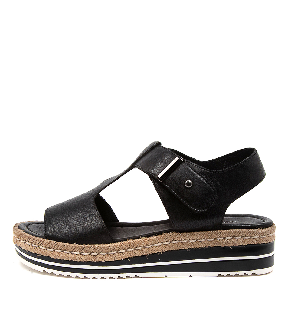 Buy Django & Juliette Ambers Black Flat Sandals online with free shipping