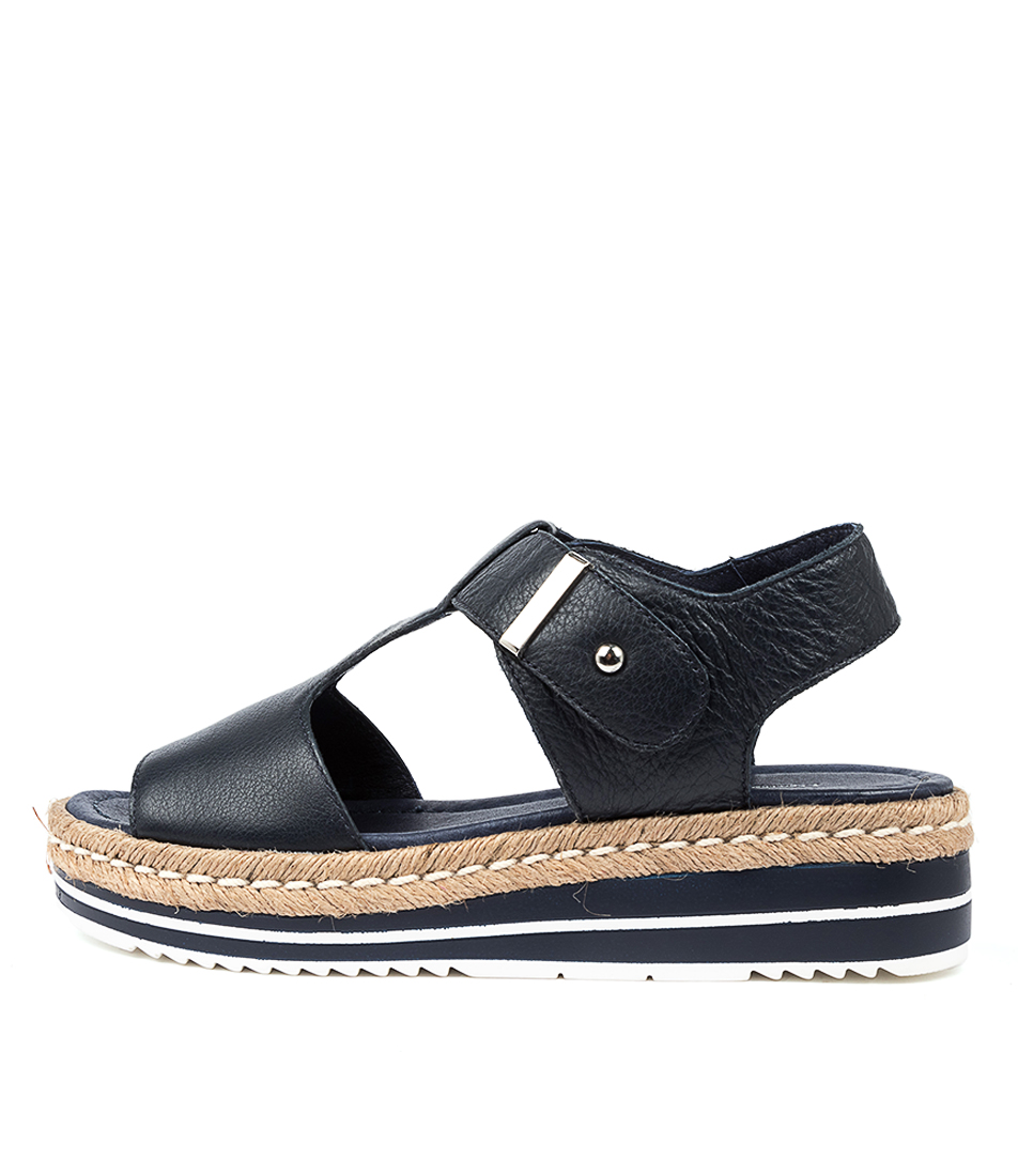 Buy Django & Juliette Ambers Navy Flat Sandals online with free shipping