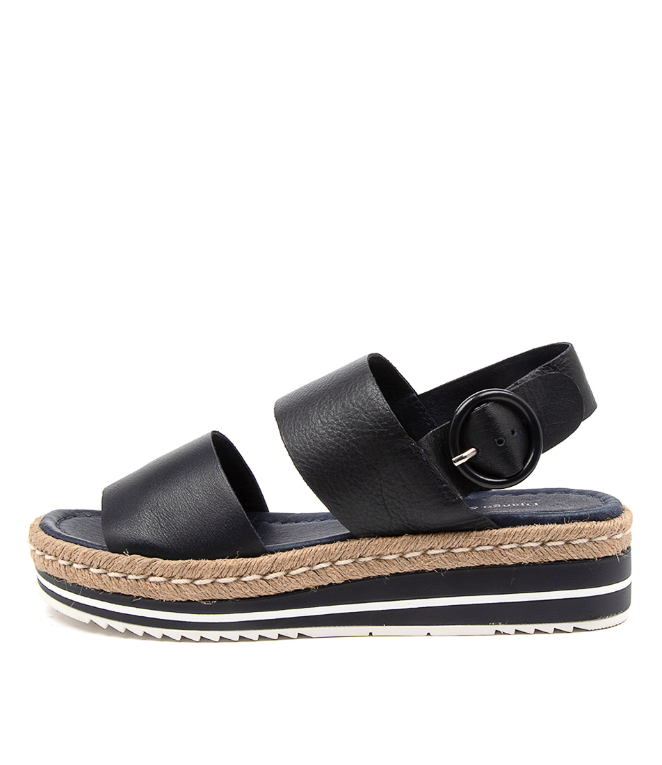 Buy Django & Juliette Atha Navy Flat Sandals online with free shipping
