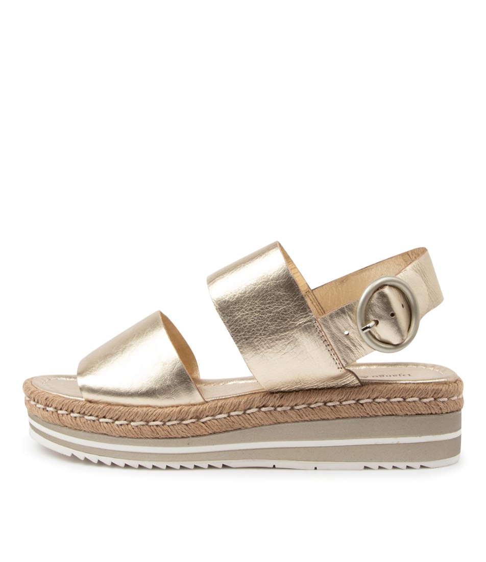 Buy Django & Juliette Atha Pale Gold Flat Sandals online with free shipping