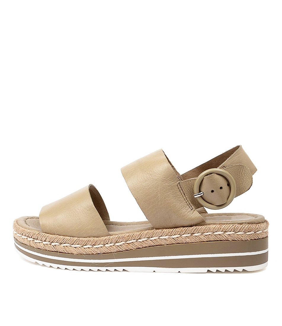 Buy Django & Juliette Atha Khaki Flat Sandals online with free shipping