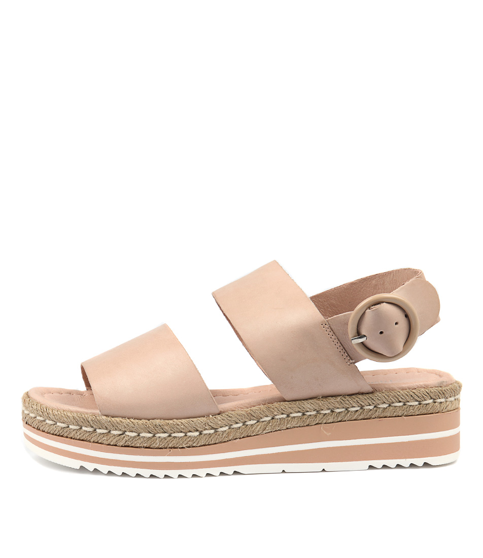 Buy Django & Juliette Atha Nude Flat Sandals online with free shipping