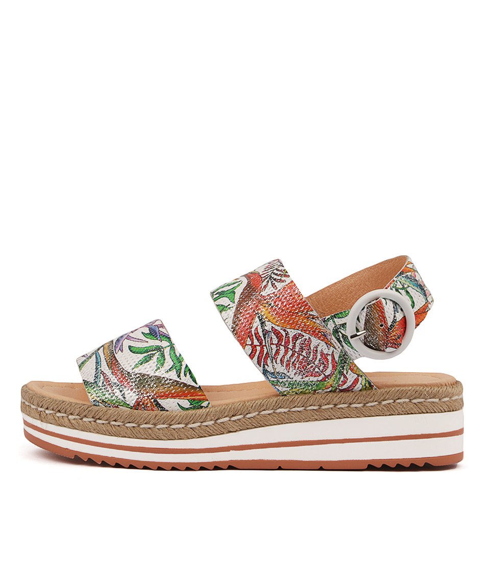 Buy Django & Juliette Atha Pastel Multi Flat Sandals online with free shipping