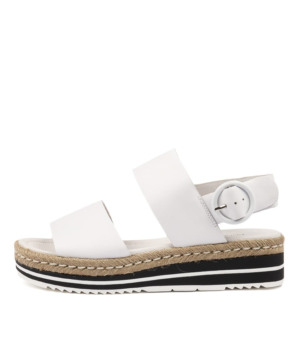 Buy Django & Juliette Atha White Flat Sandals online with free shipping