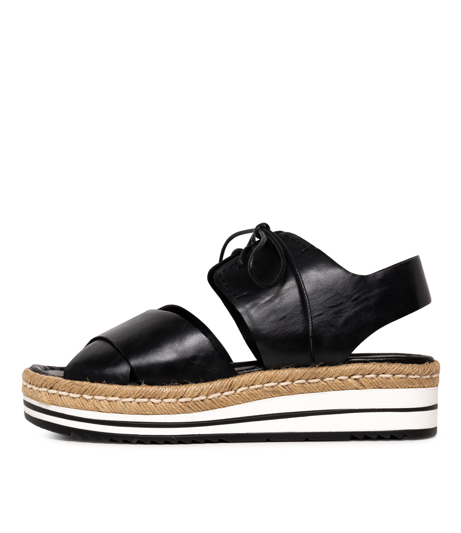 Buy Django & Juliette Avie Black Flat Sandals online with free shipping