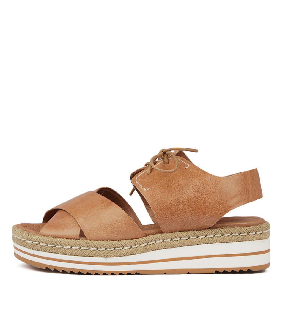 Buy Django & Juliette Avie Dk Tan Flat Sandals online with free shipping