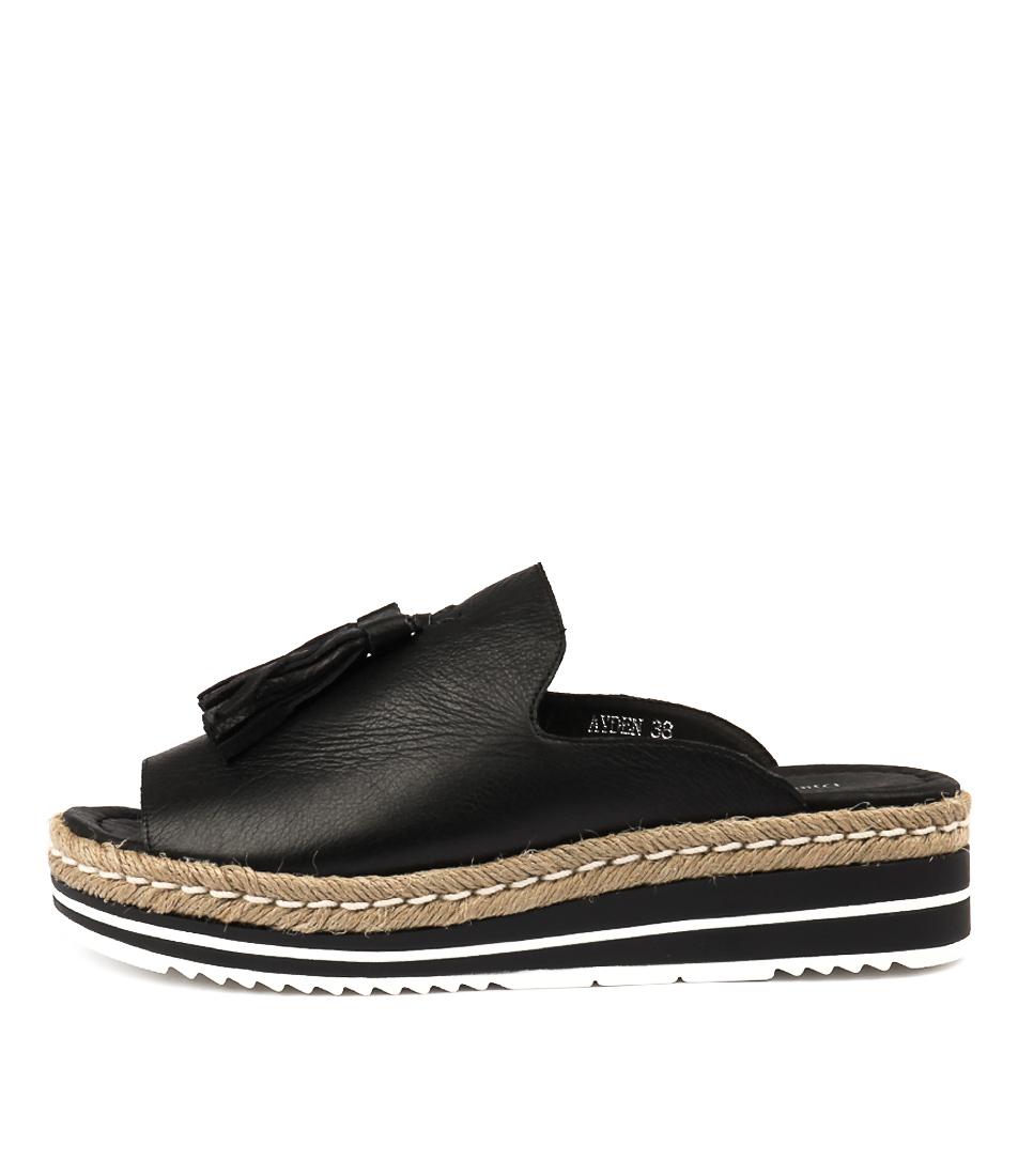 Buy Django & Juliette Ayden Black Flat Sandals online with free shipping