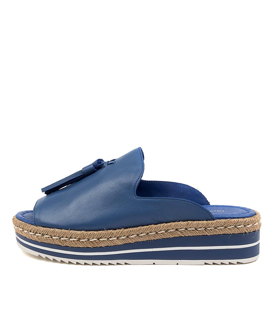 Buy Django & Juliette Ayden Cobalt Flat Sandals online with free shipping
