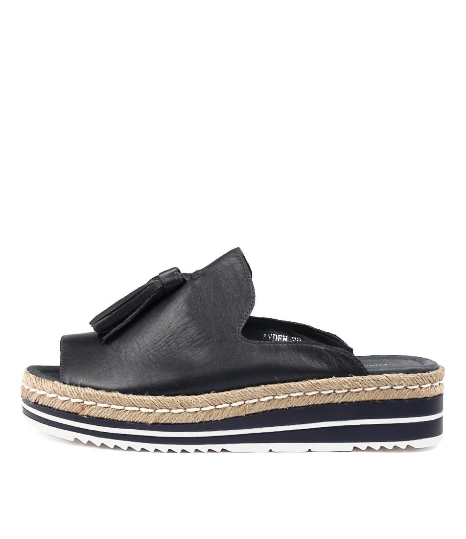 Buy Django & Juliette Ayden Navy Flat Sandals online with free shipping