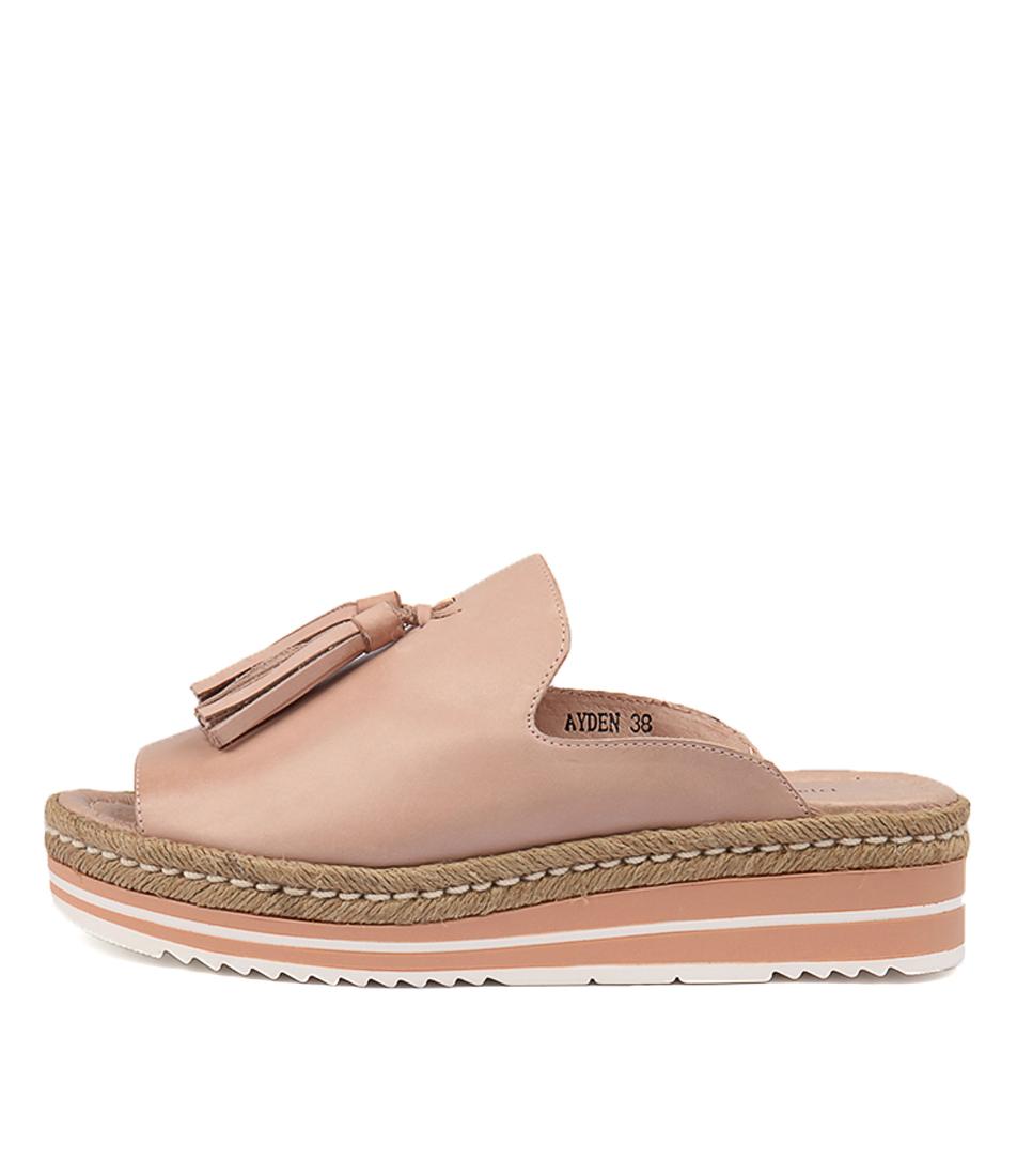 Buy Django & Juliette Ayden Nude Flat Sandals online with free shipping
